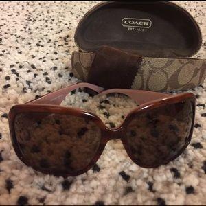 Coach sunglasses  pink and turtoise shell rare
